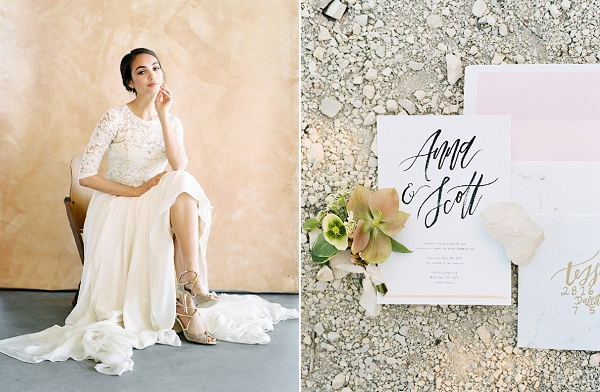 Lace Wedding Dress | Rustic and Organic Wedding Inspiration from Keestone Events and Ben Q Photography