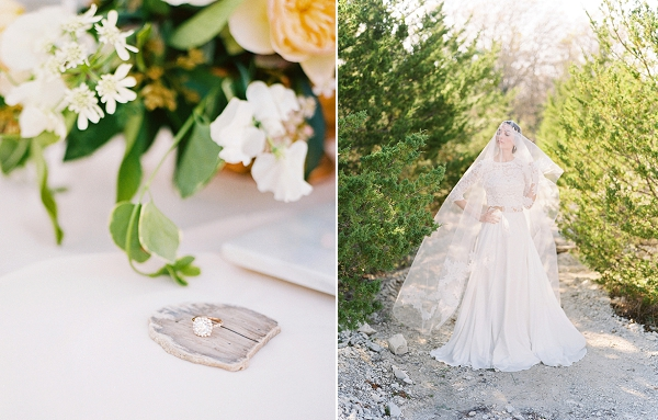 Elegant Bride with Veil | Rustic and Organic Wedding Inspiration from Keestone Events and Ben Q Photography