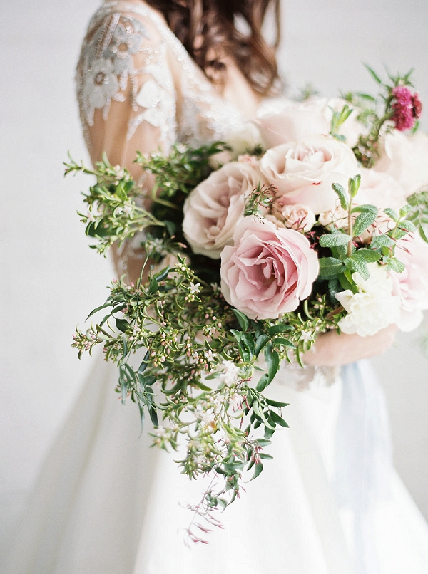 Pink Bouquet with Greenery | Modern Classic Wedding Ideas from Kristine Herman Photography