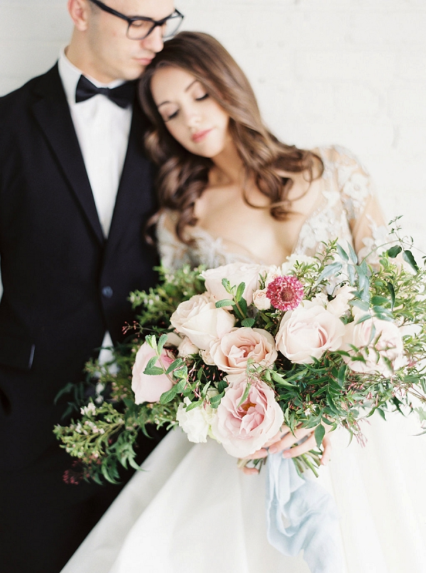 Bride with Lush Bouquet | Modern Classic Wedding Ideas from Kristine Herman Photography
