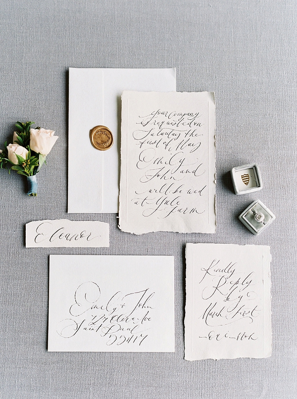 Calligraphy Wedding Invitation Suite | Modern Classic Wedding Ideas from Kristine Herman Photography