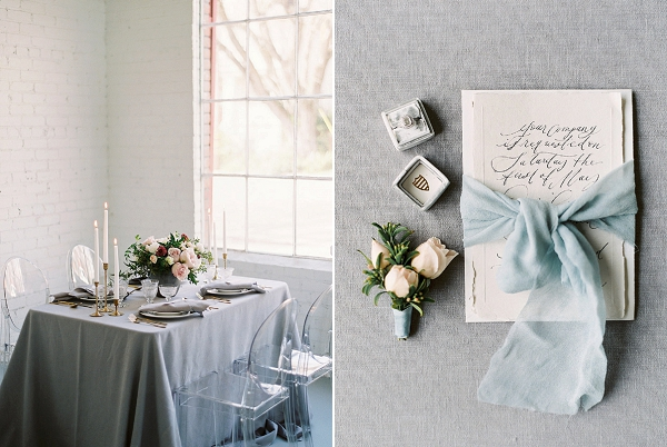 Grey and Blue Palette | Modern Classic Wedding Ideas from Kristine Herman Photography