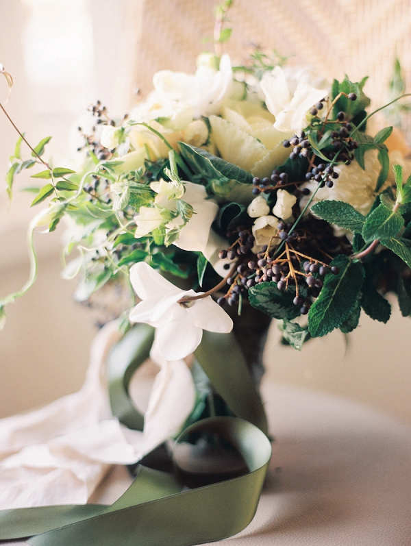 Classic White Bouquet | Romantic Early Morning Bridal Inspiration by Kristin La Voie Photography