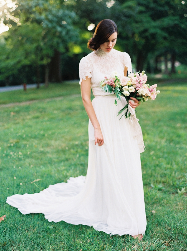 Bride with Bouquet | Villa Romance By Shannon Moffit Photography