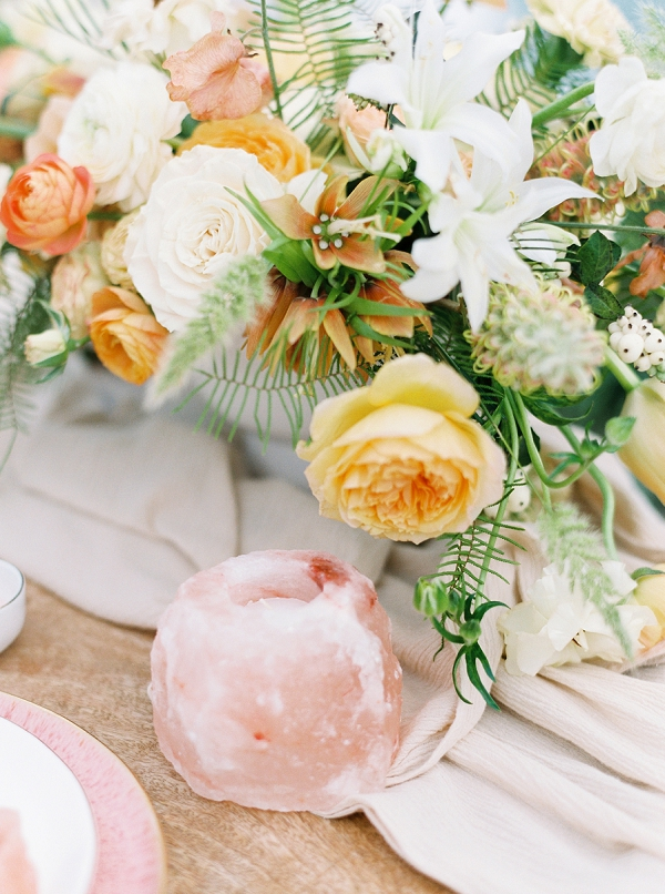 Flowers and Candles | Bohemian Coastal Fine Art Wedding Inspiration by Kristine Herman Photography