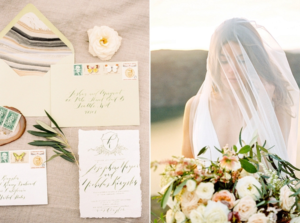 Bride with Veil | Desert and Sage Organic Wedding Inspiration from Kerry Jeanne Photography