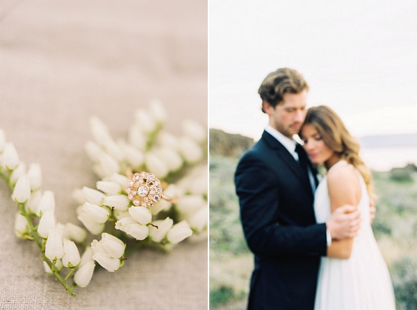 Bride and Groom Film Portrait | Desert and Sage Organic Wedding Inspiration from Kerry Jeanne Photography
