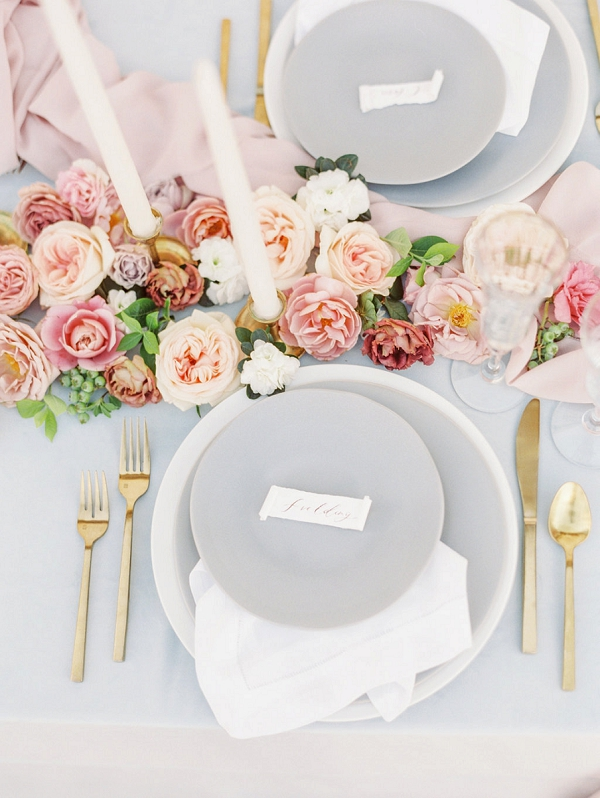 Tablescape | Elegant Wedding Inspiration in an Old World Setting by Honey Gem Creative Photography