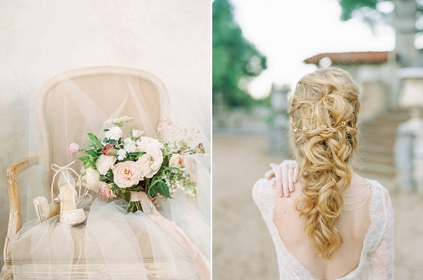 Bridal Hair | Elegant Wedding Inspiration in an Old World Setting by Honey Gem Creative Photography