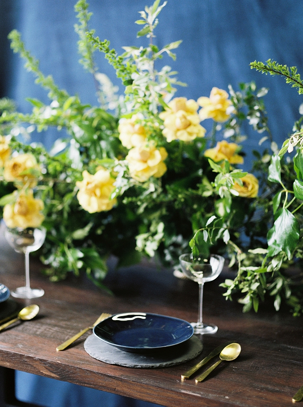 Organic and Rustic Inspiration | Moody and Romantic Indigo Wedding Inspiration by Jenna Powers