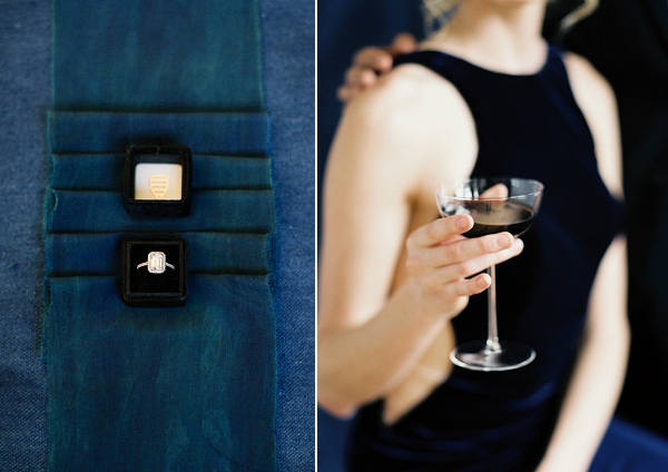 Wedding Ring | Moody and Romantic Indigo Wedding Inspiration by Jenna Powers