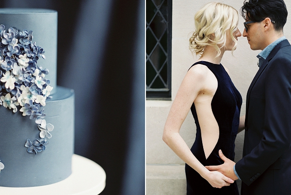 Blue Wedding Cake | Moody and Romantic Indigo Wedding Inspiration by Jenna Powers