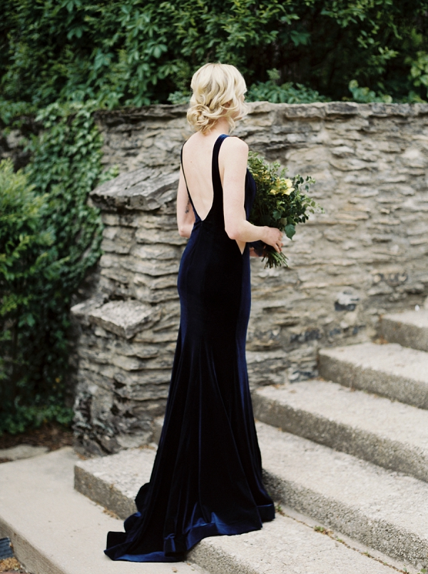 Bride | Moody and Romantic Indigo Wedding Inspiration by Jenna Powers