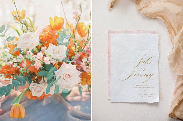 Colorful Wedding Flowers | Tropical Elopement Inspiration by Steve Torres Photography