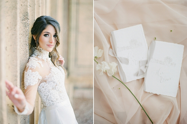 Ceremony Programs By Scribbles and Swirls | Palace of The Fine Arts Elopement Ideas by Ivory & Vine Event Co. and Stephanie Brazzle Photography