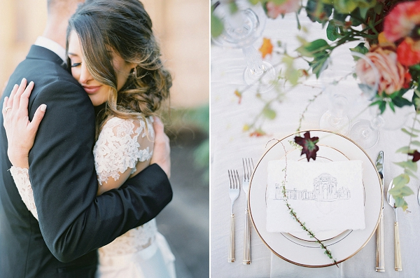 Place Setting | Palace of The Fine Arts Elopement Ideas by Ivory & Vine Event Co. and Stephanie Brazzle Photography