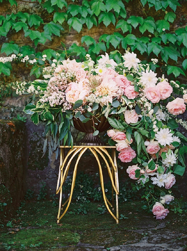 Lush Pink Floral Centerpiece   Romantic Whetstone Winery Editorial By © Justina Bilodeau Photography