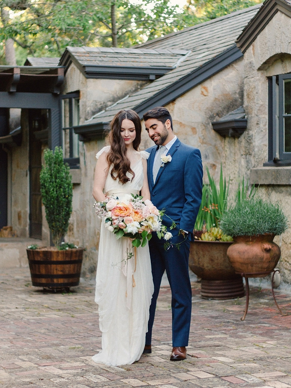 Bride and Groom   Romantic Whetstone Winery Editorial By © Justina Bilodeau Photography