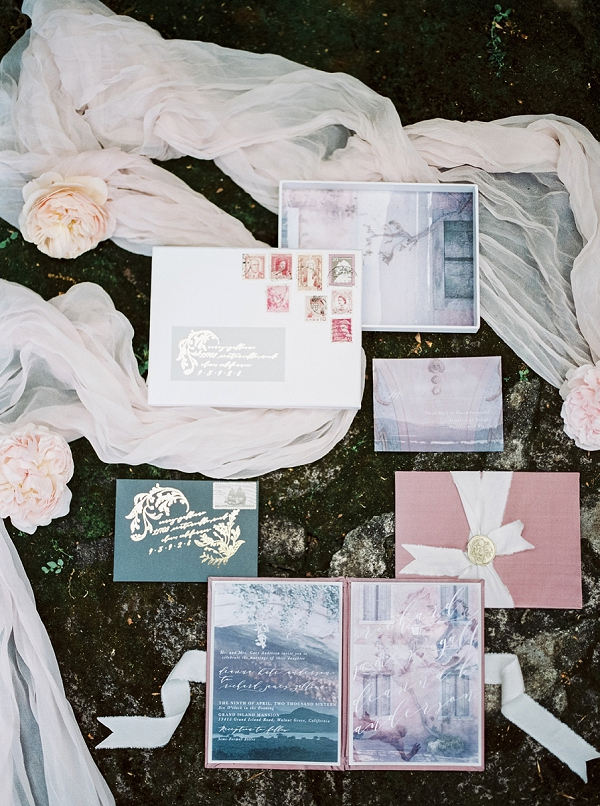 Wedding Invitation Suite   Romantic Whetstone Winery Editorial By © Justina Bilodeau Photography