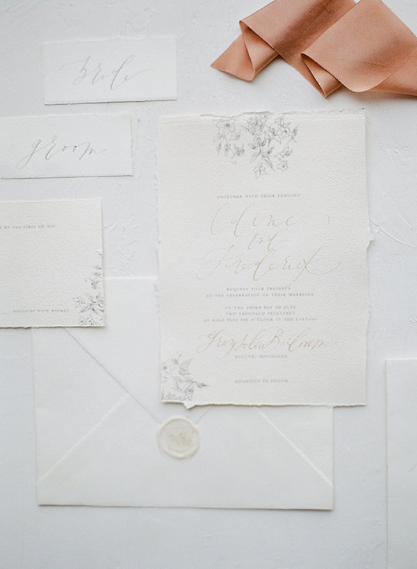 Wedding Invitations | Springtime In Paris Wedding Inspiration by Anna Grinets Photography