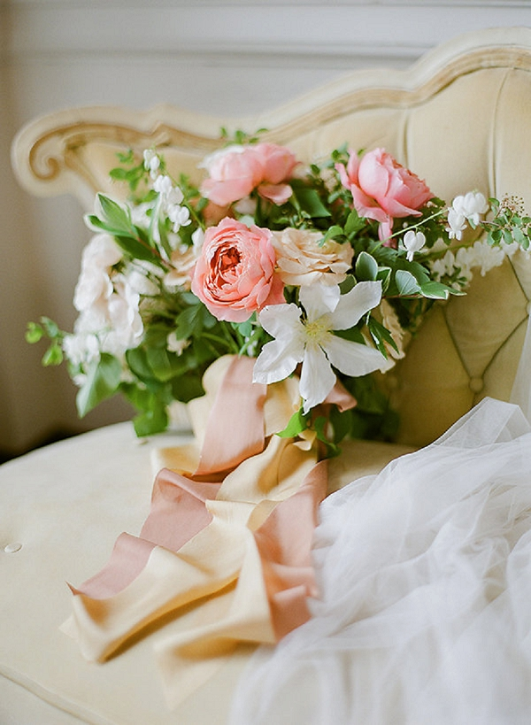 Bouquet | Springtime In Paris Wedding Inspiration by Anna Grinets Photography