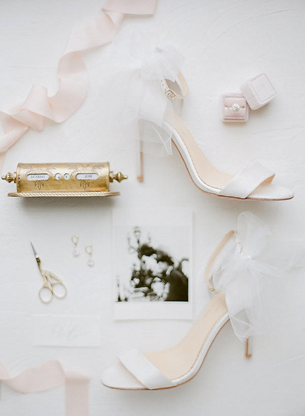 Wedding Shoes | Springtime In Paris Wedding Inspiration by Anna Grinets Photography