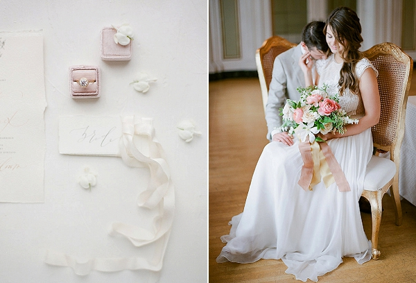 Bride and Groom | Springtime In Paris Wedding Inspiration by Anna Grinets Photography