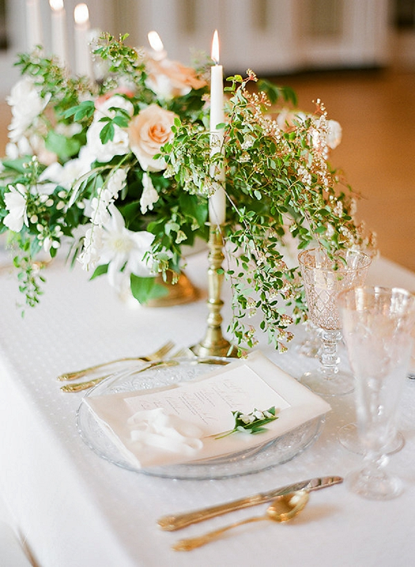 Elegant Tablescape | Springtime In Paris Wedding Inspiration by Anna Grinets Photography