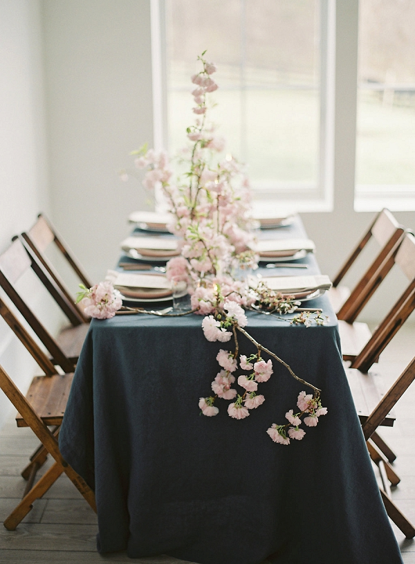 Spring Tablescape Ideas | Cherry Blossom-Inspired Fine Art Wedding Ideas from Angela Newton Roy Photography
