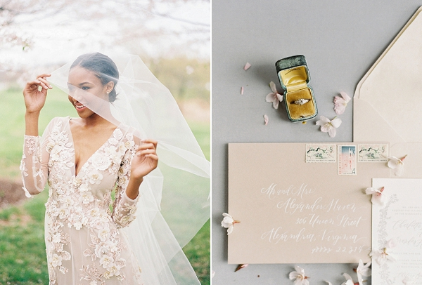 Wedding Ring | Cherry Blossom-Inspired Fine Art Wedding Ideas from Angela Newton Roy Photography