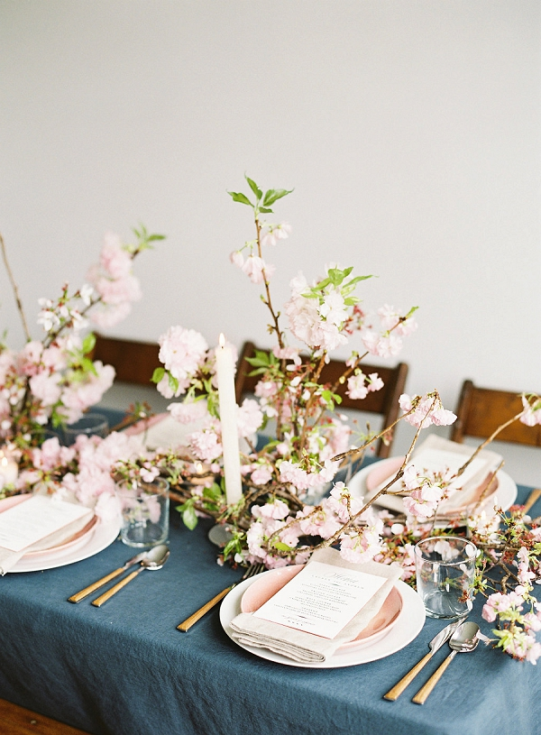 Tablescape | Cherry Blossom-Inspired Fine Art Wedding Ideas from Angela Newton Roy Photography