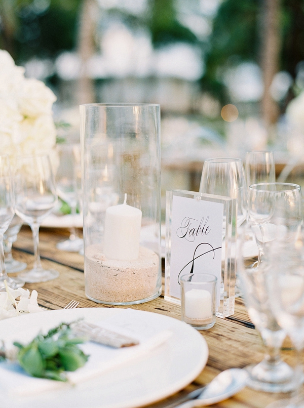 Tablescape with Candles | Glamorous Wedding Weekend in the Bahamas by Hunter Ryan Photography