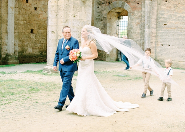 Father of the Bride | Intimate and Romantic Tuscany Destination Wedding by Kir & Ira Photography