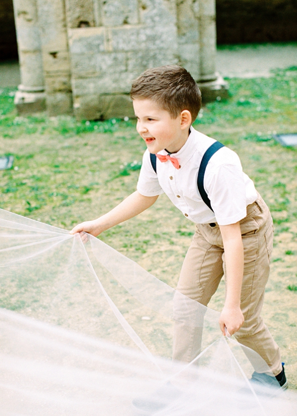 Ring Bearer with a Bow Tie | Intimate and Romantic Tuscany Destination Wedding by Kir & Ira Photography