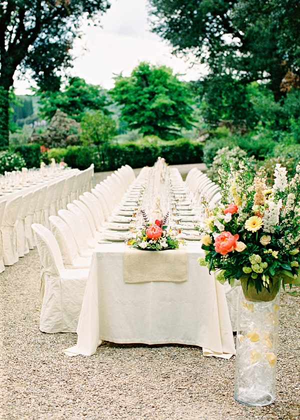 Reception in Italy | Intimate and Romantic Tuscany Destination Wedding by Kir & Ira Photography