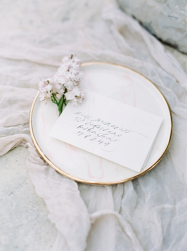Calligraphy | Modern Chic Garden Wedding Inspiration by Jenna McElroy Photography