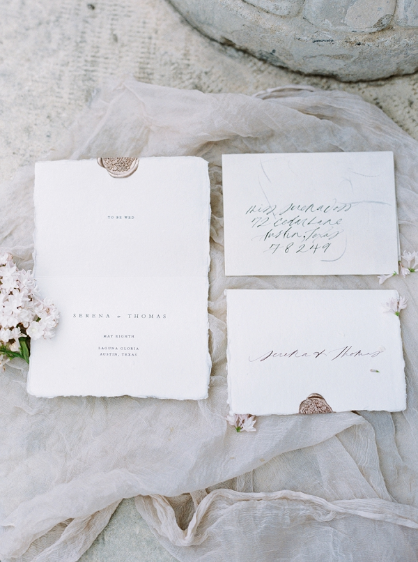 Calligraphy Invitations | Modern Chic Garden Wedding Inspiration by Jenna McElroy Photography