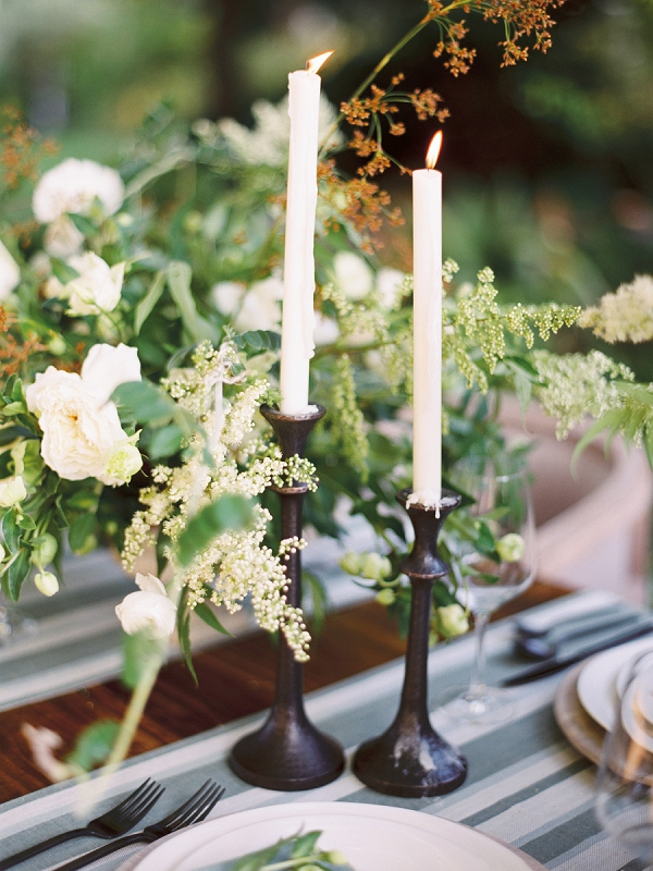 Candles | Timeless Garden Wedding Elegance from Michelle Boyd Photography