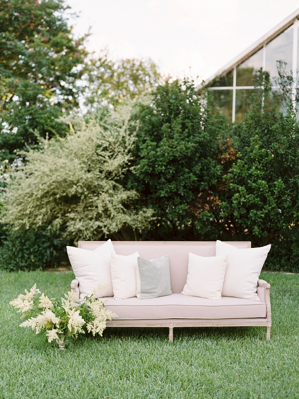 Wedding Lounge Idea for Cocktail Hour | Timeless Garden Wedding Elegance from Michelle Boyd Photography