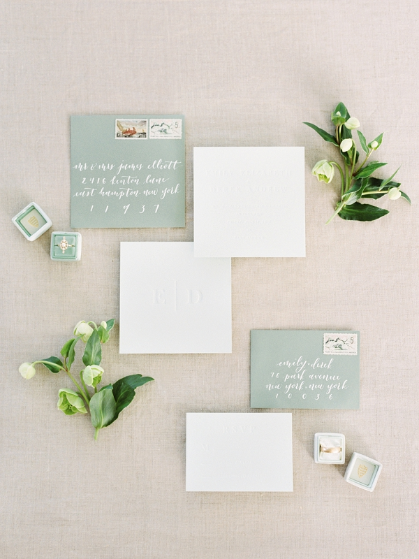Invitation Suite | Timeless Garden Wedding Elegance from Michelle Boyd Photography
