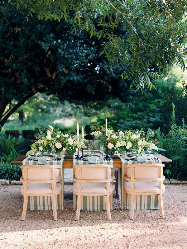 Reception Table | Timeless Garden Wedding Elegance from Michelle Boyd Photography
