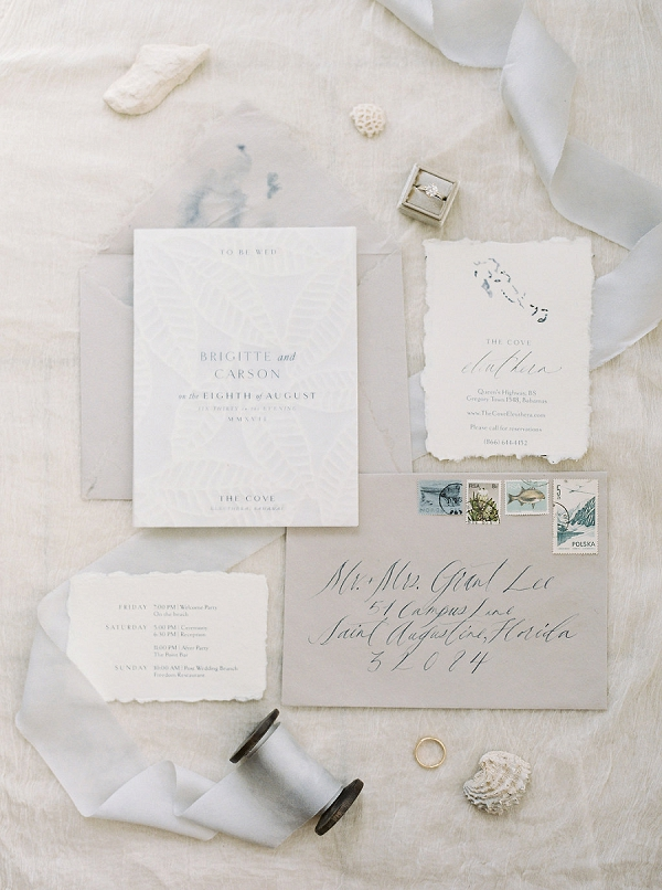 Destination Wedding Invitation Suite | Tropical Beach Wedding Ideas By Simply Sarah Photography