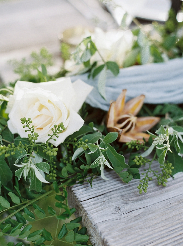 Floral Table Runner | Tropical Beach Wedding Ideas By Simply Sarah Photography
