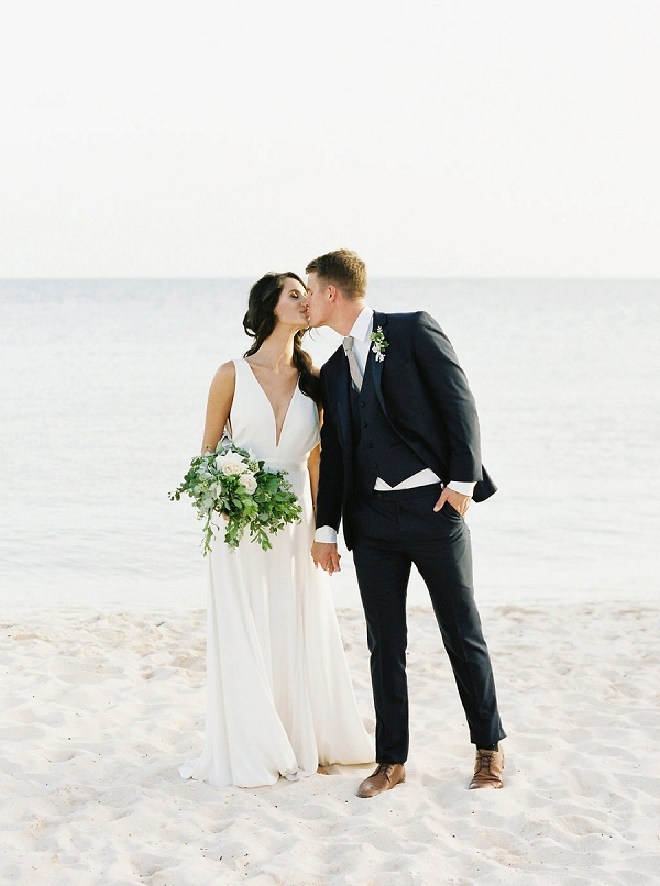 Bride and Groom in The Bahamas | Tropical Beach Wedding Ideas By Simply Sarah Photography