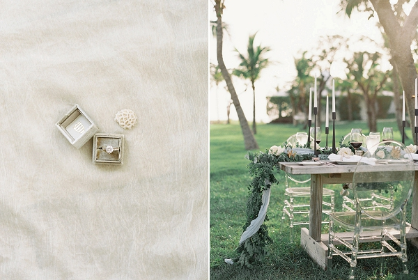 Organic Wedding Tablescape | Tropical Beach Wedding Ideas By Simply Sarah Photography