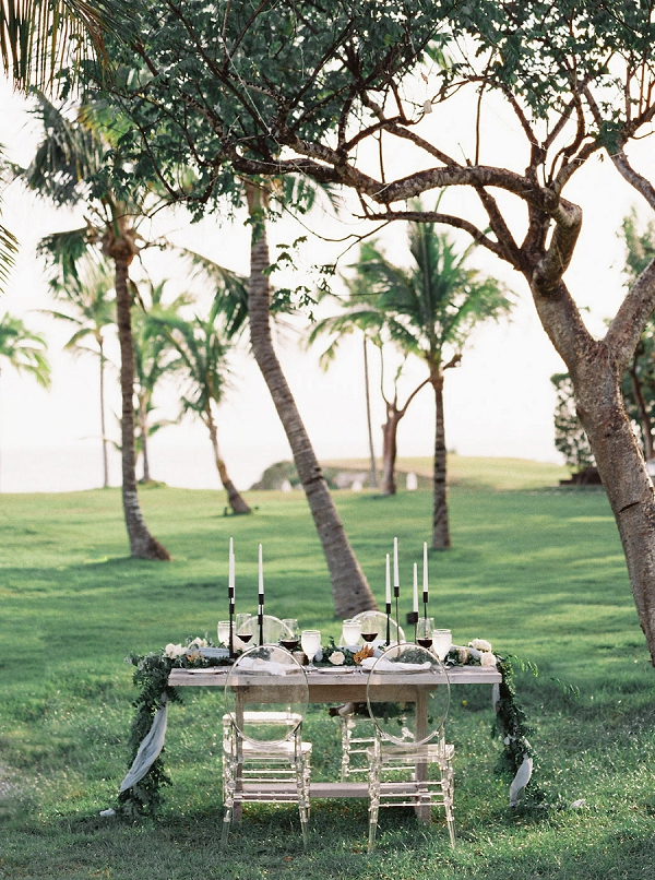 Organic Tablescape Ideas | Tropical Beach Wedding Ideas By Simply Sarah Photography