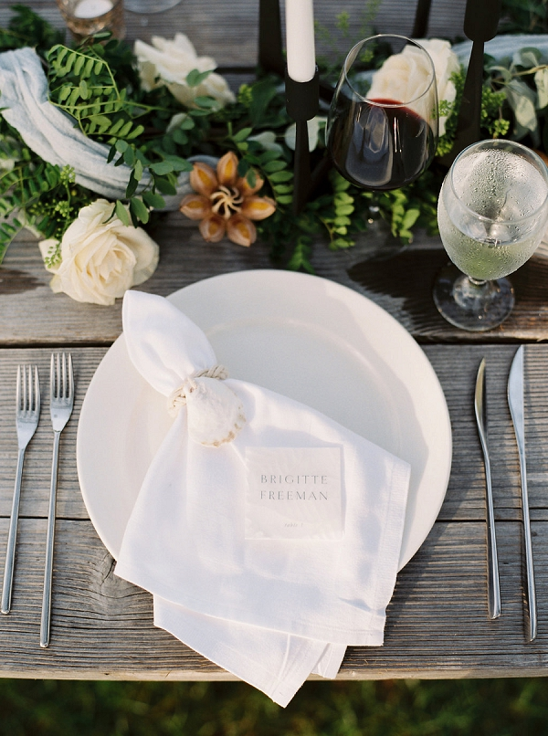 Place Setting | Tropical Beach Wedding Ideas By Simply Sarah Photography