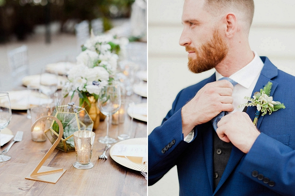 Groom In Blue | Chic Art Deco Miami Wedding By Merari Photography