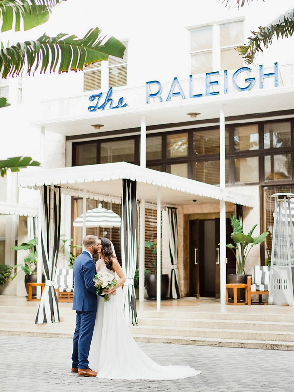 Bride and Groom | Chic Art Deco Miami Wedding By Merari Photography