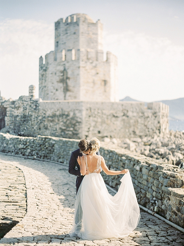 Bride and Groom | Elopement Inspiration at Methoni Castle, Greece | Elisabeth Van Lent Photography
